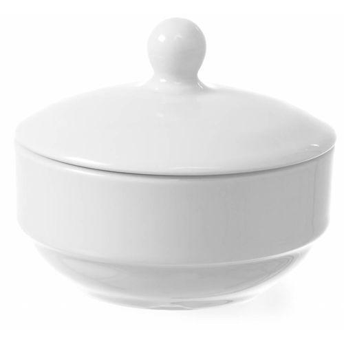 Fine dine Cukiernica z pokrywką bianco | śr. 100x(h)85 mm
