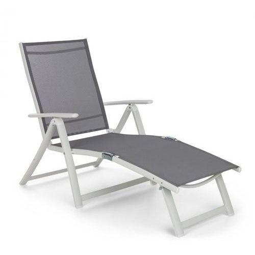 Blumfeldt Pomporto Lounge leżak PVC PE aluminium 7-stopni biały/jasnoszary (4060656152252)