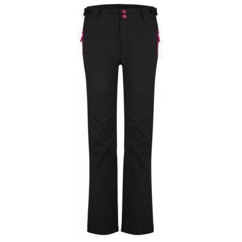 spodnie softshellowe damskie lucien czarny s marki Loap