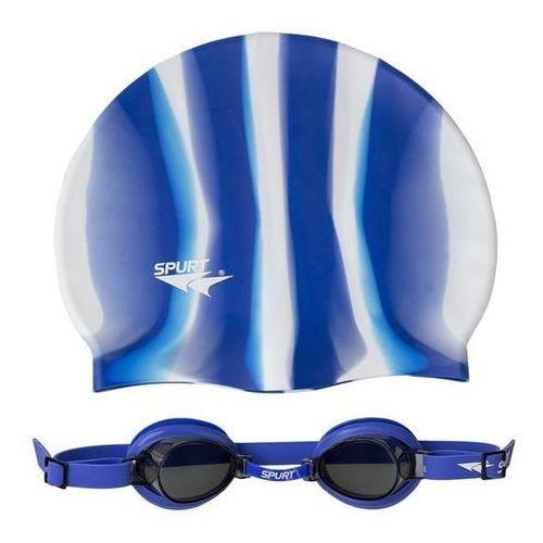 Spurt Okulary pływackie 1100 af 12 + czepek mi 1