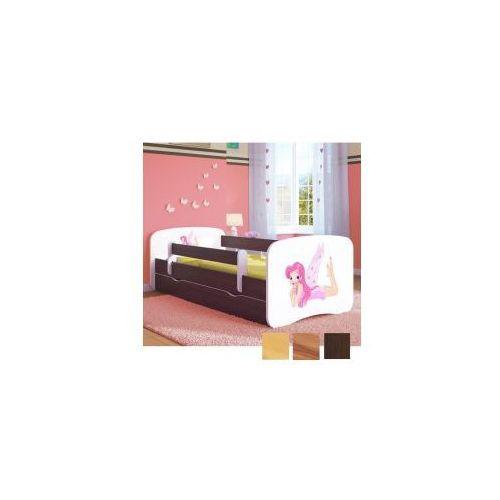 Łóżko dziecięce z materacem wróżka ze skrzydełkami, biały-drewno marki Kocot-meble