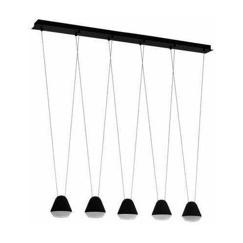 Eglo Palbieta 99013 lampa wisząca zwis 5x3w GU10-LED czarna/satyna, kolor Czarny