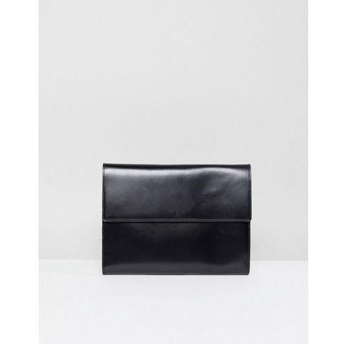 Knomo Leather Portable Organizer - Black, kolor czarny