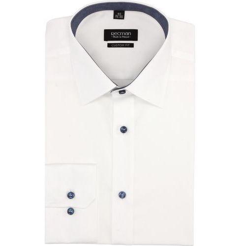 Recman Koszula bexley 2767 długi rękaw custom fit biały
