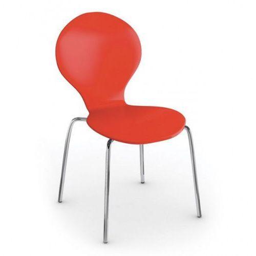 Fotel do jadalni candy, czerwony marki B2b partner