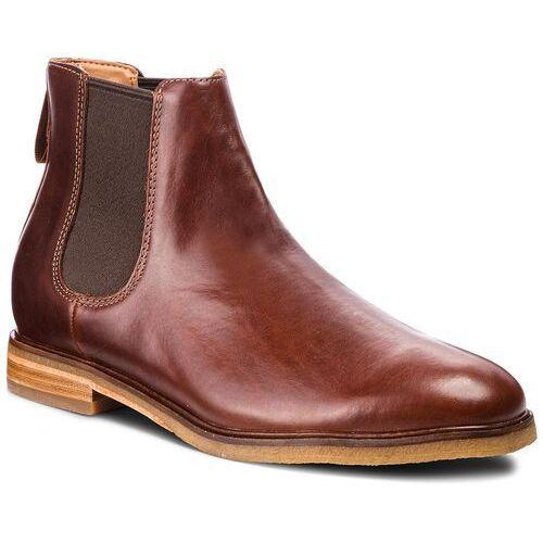 Sztyblety CLARKS - Clarkdale Gobi 261362517 Mohogany Leather, kolor brązowy