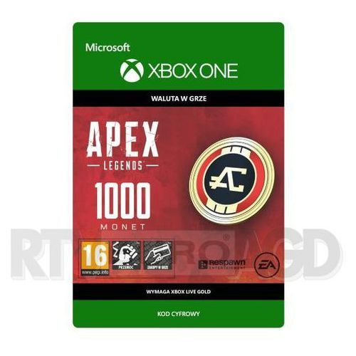 Apex Legends - 1000 monet [kod aktywacyjny] Xbox One (8806188745380)