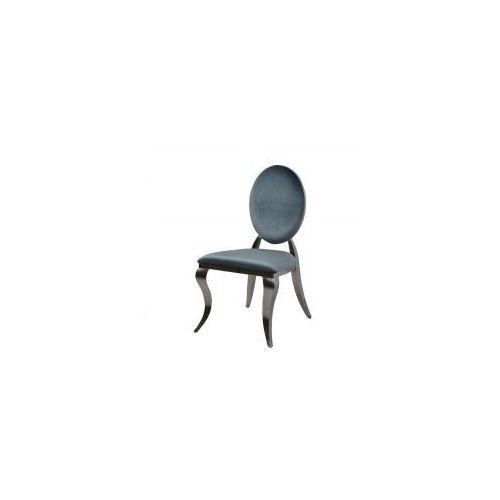 Krzesło ludwik ii glamour dark silver - nowoczesne krzesło tapicerowane marki Bellacasa