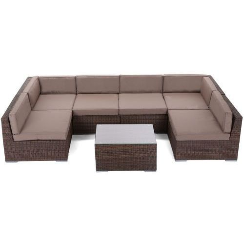 Narożnik technorattanowy HOME&GARDEN Kansas Maxi Brown / Taupe + DARMOWY TRANSPORT!