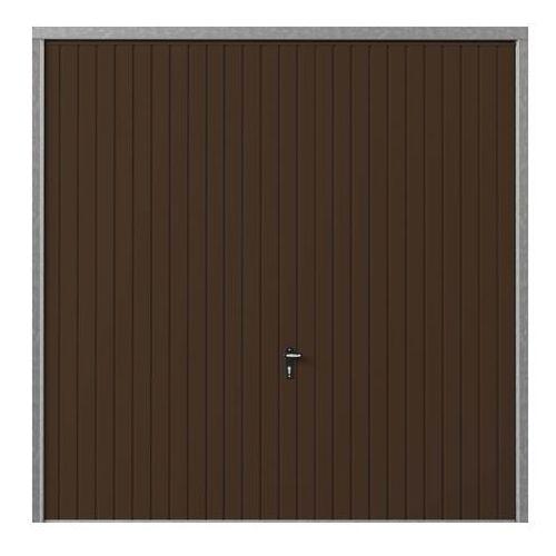 Brama garażowa uchylna 2500 x 2000 mm brązowa (5907642733455)