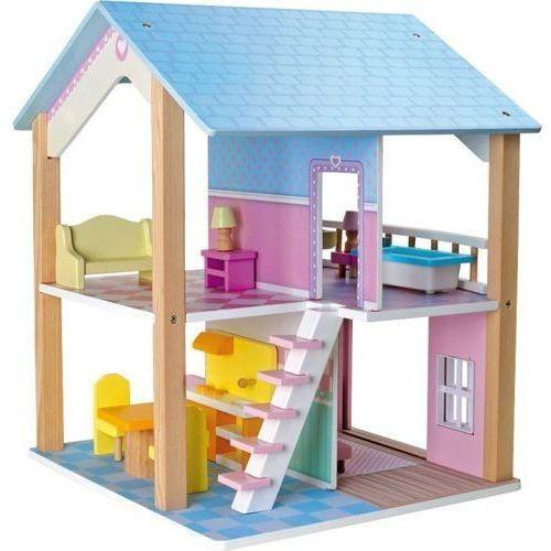 Small foot design Drewniany domek dla lalek z niebieskim dachem - zabawka dla dzieci