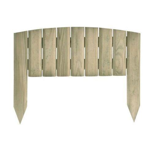 Sobex Płotek rabatowy 40 x 30 cm drewniany fiołek