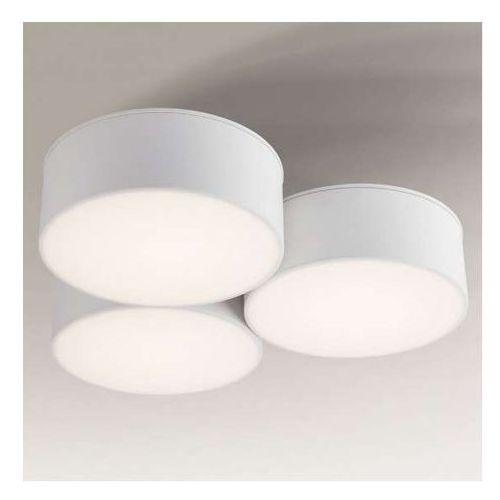 Plafon LAMPA sufitowa ZAMA 1133/GX53/BI Shilo natynkowa OPRAWA okrągła biała, 1133/GX53/BI