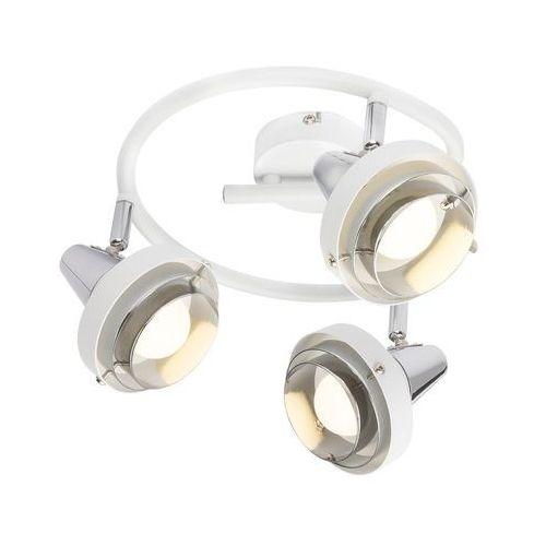 Globo Spirala rorge 54301-3 lampa sufitowa spot 3x15w e14 biały / chrom (9007371371259)