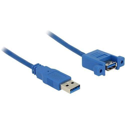 Przedłużacz USB 3.0 Delock 85112, [1x złącze męskie USB 3.0 A - 1x złącze żeńskie USB 3.0 A], 1 m, niebieski