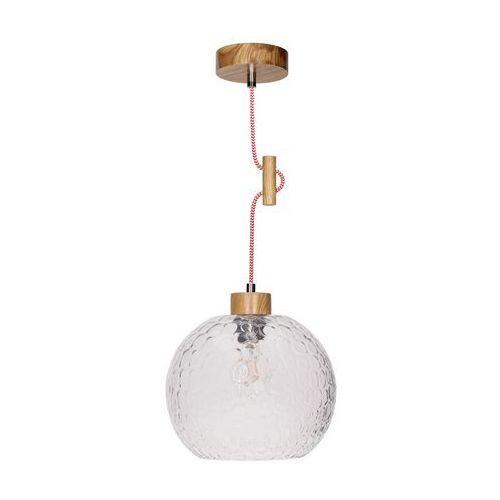 Spotlight Lampa wisząca zwis oprawa spot light svea 1x60w e27 dąb/czerwono-biała 1357570 (5901602351277)
