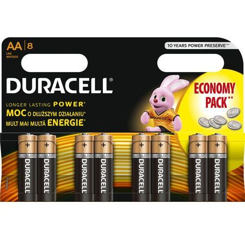 Duracell Bateria  basic aa 8 szt.