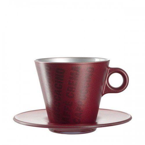 Leonardo Filiżanka do cappuccino ooh magico bordowy metalik (063888)