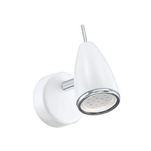 Kinkiet Eglo Riccio 2 93128 oprawa ścienna sufitowa spot 1x3W GU10-LED chrom / biały, 93128