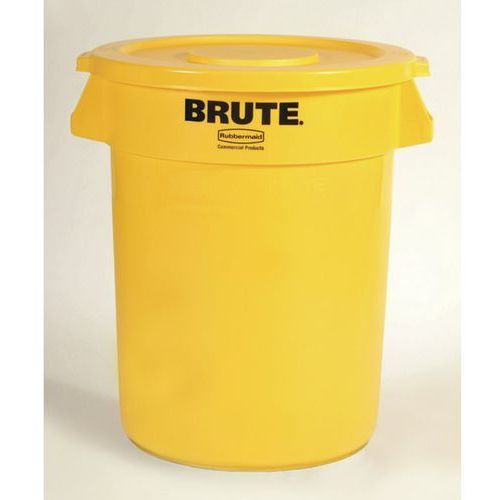 Pojemnik uniwersalny, poj. 121 l, żółty. kanały wentylacyjne ułatwiają wyjmowani marki Rubbermaid