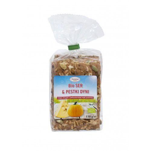 Benus Chleb chrupki bio ser i pestki dyni pełnoziarnisty 150g
