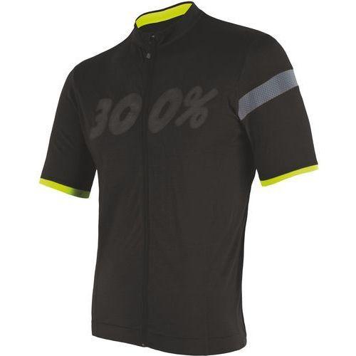 Sensor t-shirt męski z suwakiem na całej długości Cyklo Classic czarny M (8592837053554)