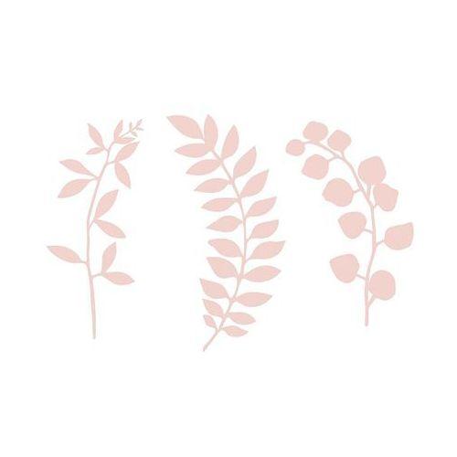 Dekoracja gałązki z listkami pudrowy róż - 9 szt. marki Ap