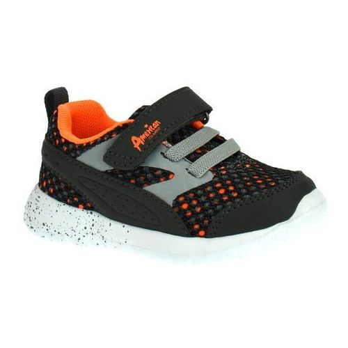 Buty sportowe dla dzieci American Club 3818 Grafit - Pomarańczowy ||Grafitowy
