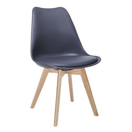 Krzesło nordic ciemno szare z poduszką marki Kh