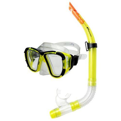 Spokey Zestaw do nurkowania 84099 coral junior żółty