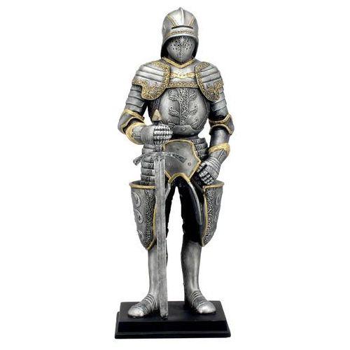 Srebrny rycerz w zdobionej zbroi (wu74097ac) marki Veronese