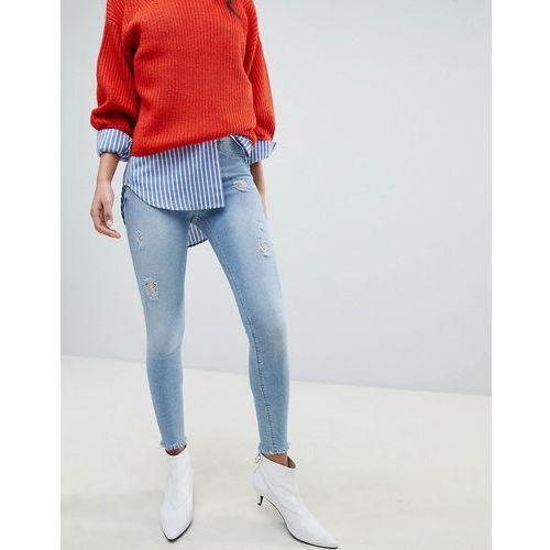 River Island Molly Light Wash Skinny Jeans - Blue, skinny
