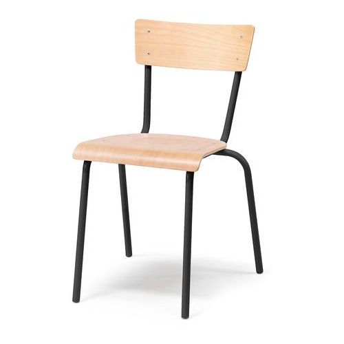 Krzesło do stołówki Portland buk czarny, kolor Krzesła