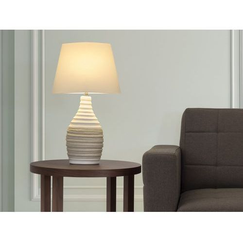 Nowoczesna lampka nocna - lampa stojąca - kremowa - TORMES (7081455503882)