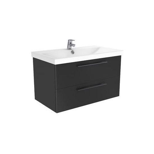 New trendy notti szafka wisząca + umywalka antracyt połysk 70 cm ml-8085/u-0090