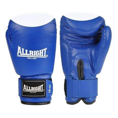 Allright Rękawice bokserskie pvc  niebiesko-białe (5902634990588)