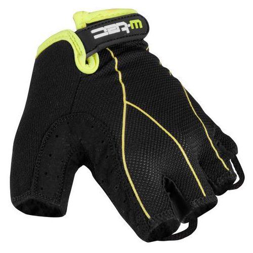 Rękawiczki rowerowe męskie W-TEC Humy, Czarno-szary, XL