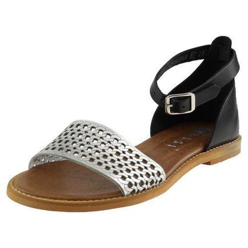 Sandały 18381 - czarne + srebro, Nessi