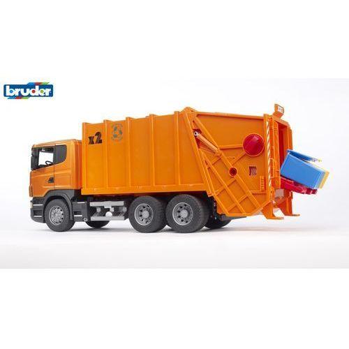 BRUDER Samochód śmieciarka SCANIA R (1:16) (4001702035600)