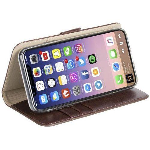 Krusell Ekerö FolioWallet 2in1 - Etui 2w1 iPhone X z kieszeniami na karty + stand up (Coffe), 61077