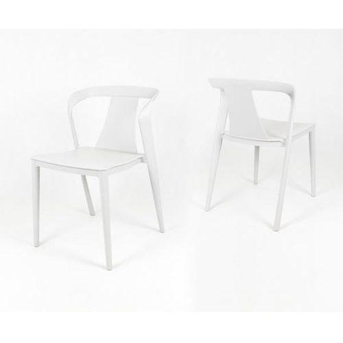 Sk design kr052 białe krzesło polipropylenowe - biały