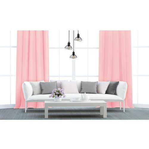 Zasłona gotowa AURA kolor Pudrowy różowy 140 x 250 cm Kółka 160 g/m² ACTION (5901443110941)