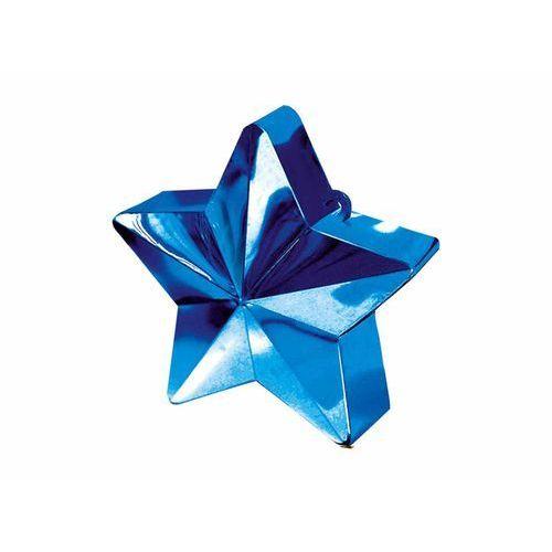 Obciążnik ciężarek do balonów napełnionych helem - gwiazda niebieska - 170 g. marki Amscan