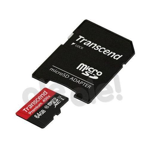 Transcend premium microsdxc class 10 64gb - produkt w magazynie - szybka wysyłka!