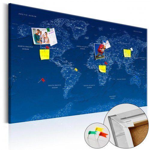 Obraz na korku - mapa świata: world connection [mapa korkowa] marki Artgeist