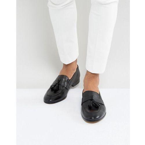 tassel loafers black leather - black marki Dune
