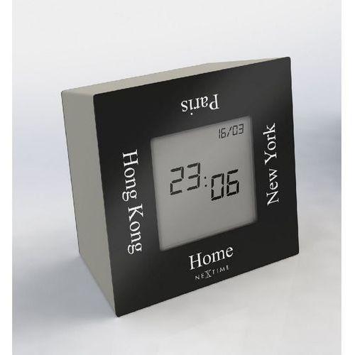 NeXtime - Zegar stojący Turn4Time - czarny