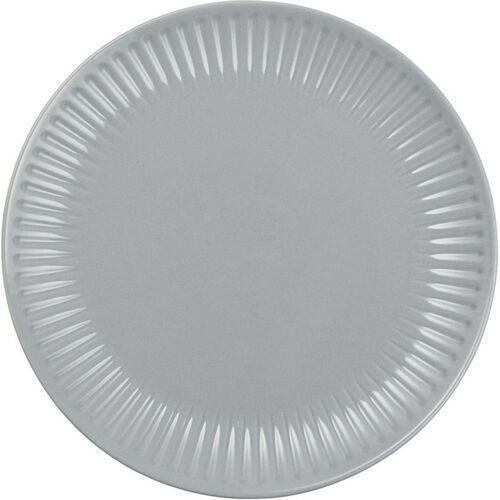 Ib Laursen - Talerz obiadowy z rowkami Mynte French Grey