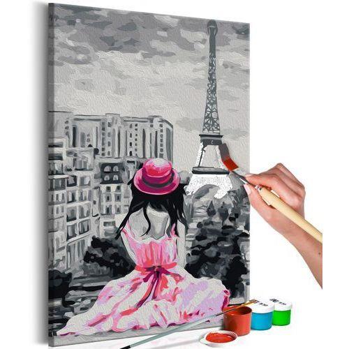 Artgeist Obraz do samodzielnego malowania - paryż - widok na wieżę eiffla