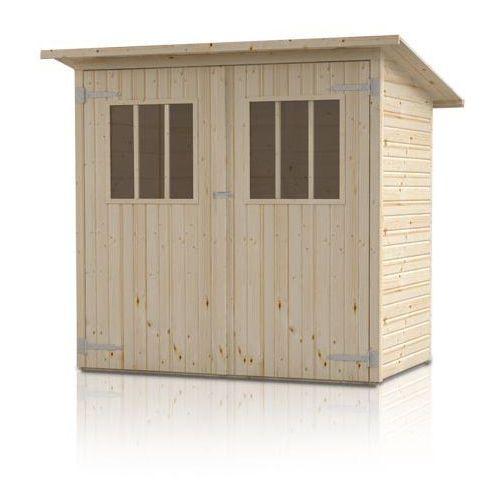 Drewniany domek narzędziowy Zimowit